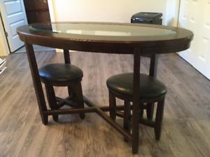 Table et 2 Tabourets