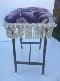 Vintage fringed stool