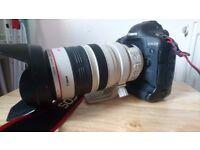 Canon 1DX Camera, 28-300 lens,Sigma 15 - 30 lens, Speedlite 430EX II