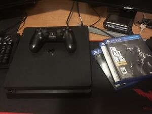 Ps4 slim 500gb w/ 1 controller and 3 games (no nego)