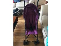 Purple red kite stroller buggy Excellent condition