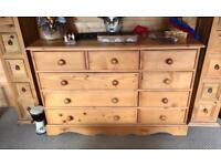 2x3x4 pine chest of drawers