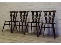 Ercol Table With Four Chairs (DELIVERY AVAILABLE)