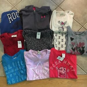Large Lot Girl's Under Armour, Abercrombie, Roots