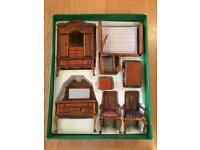 Antique Wooden Collectors Miniature Furniture Set