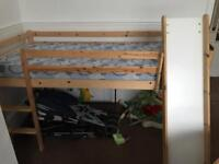 Child bed with slide