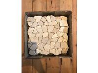 Marble mosaic tiles 30cm x 30cm (6 plus 2 halves available)