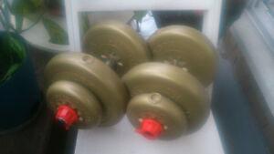 poids et halteres york+ballons de gym