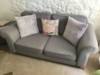 Three seater sofa, chair and storage pouffe - in excellent condition!