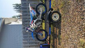 Tm dirt bike and custom trailer