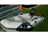 Inflatable boat and 6hp outboard