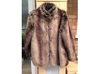 Ladies soft fur jacket size 18