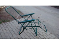 Reclining Garden Chair (just frame, no cushion), 5 reclining positions, green