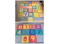 Foam letters and numbers a-z 0-9