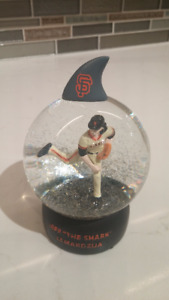 "San Francisco Giants 2017 Jeff ""The Shark"" Samardzija Snow Globe"