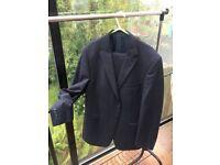 """M&S Blue Suit - Jacket - 42L / Trousers - 40""""W / 31"""" L"""