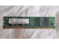 1X MICRON 128MB, DDR, 333, CL2.5 (MT4VDDT1664AG-335C3)