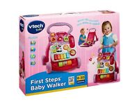 Vtech baby first steps pink walker
