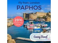 2 Return flights to Paphos, CYPRUS from London **BARGAIN OFFER**