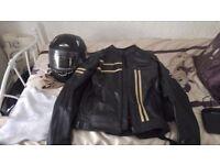 Black leather motorbike jacket never used size xl