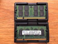 2 x 1GB SO-DIMM 200 pin 6400S-666