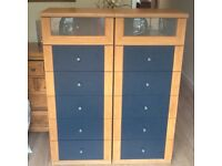Two x Drawer Units - 6 Drawers each