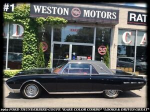 1962 Ford Thunderbird COUPE *RARE COLOR COMBO *LOOKS AND DRIVES