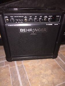 Electric guitar amp and carrying case