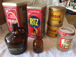 Vintage tin collectables