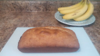 Fresh Banana bread  $5 loaf $6 with chocolate chips