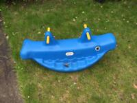 Little tikes whale teeter totter see saw. Garden toy