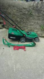 Qualcast electric lawn mower and strimmer for sale