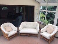 Conservatory furniture - three piece suite