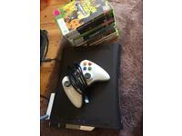 Xbox 360 120gb hard drive , wireless remote and games