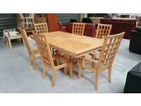 Extra large extendable dining table & 6 chairs can deliver 07808222995