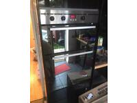 Indesit built in electric double oven