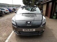 PEUGEOT 5008 2.0 HDI EXCLUSIVE 5d 150 BHP 2 OWNERS FIRST OWNER (grey) 2011