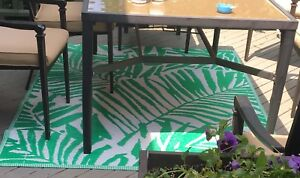 Green large patio deck rug obo