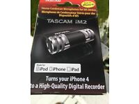 Tascam iM2 high quality stereo mikes for ios - up to iPhone 4S and earlier iPods and iPads.