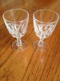 Caithness Crystal pair Wedding wine Glasses