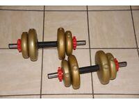 15kg vinyl dumbbells / dumbells set (each one is 7.5kg) Weights, home gym, fitness