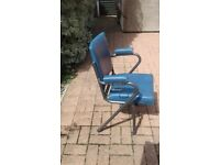 Row of 4 x 1950s Cinema Chairs / Seats - Retro Vintage Industrial Stacking