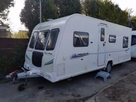 2011 Bailey Pegasus 524 4 berth caravan FIXED BED, VGC, MOTOR MOVER, Awning !