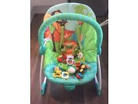 Argos baby bouncer with toys