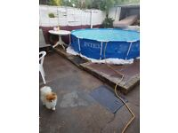 12FT SWIMMING POOL FOR SALE IN BATTESEA USED ONLY TWICE