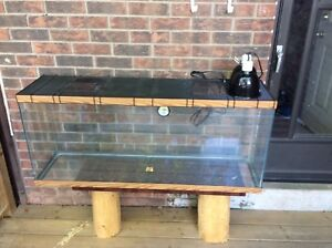 Large 4 ft Terrarium with Reptile Supplies and Decorations