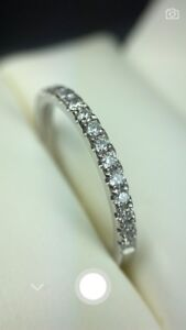 18K Brand New White Gold with Natural Diamonds Ring 799$