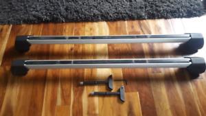 VW roof rack cross bars