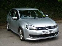 2012 Volkswagen Golf 1.6 TDI BlueMotion Tech 5dr silver diesel long MOT £30 FULL YEAR TAX LOW MILES