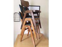 Vintage Retro school/chapel wooden chairs
